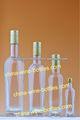 los alimentos botella de vidrio