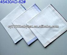 100% Cotton white handkerchief