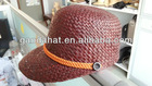 fashion design raffia straw materials visors