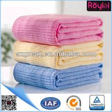 2014 hot leno weave cotton baby blanket