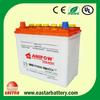 12V JIS & DIN dry charged car battery