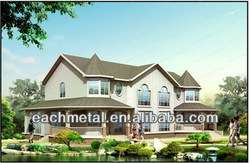 Modern economic fast and quick assemble light steel villa