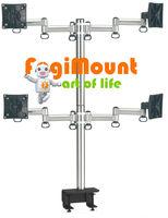 TKLA-6034 Desk Clamp Mount - Space Extender 4 LCD Monitor Flexible Arm