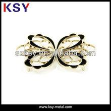 Butterfly shape oval metal buckle(custom logo belt buckle)