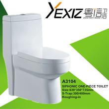 A3104 good quality sanitary ware one piece bathroom toilet