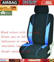 universal fit newest design black car seat cover customization,hot selling blue mesh,leather,mesh PU velvet
