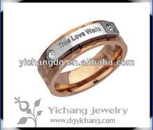 Women's rose gold TRUE LOVE WAITS promise ring