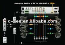 8chs Real Time 3G HDMI CCTV DVR camera system