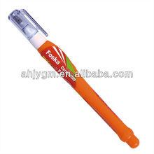 Pen Shape 4ml liquid Correction Fluid/correction fluid pen/metal tip correction pen