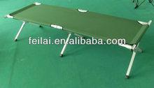 olive green aluminum military camp cot
