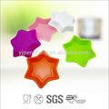 Venta caliente colorido forma de estrella de silicona del molde de la torta, forma de la flor de la torta del molde