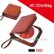 Black/Brown Color Plastic 40 CD Bag/Case