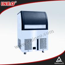 De acero inoxidable mini fabricante de hielo, comercial máquina de hielo portátil, 220v fábrica de hielo portátil( 80kg/24h)