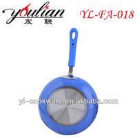 2015 hot sale brighter color Aluminum 3003 electric non-stick ceramic frying pizza pan