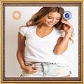 China importação camisetas atacado plain white t-shirts para roupa de mulher