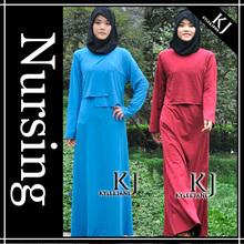 KJ nature fabric maternity and nursing abaya for women kameez kaftan 2014