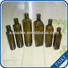 high quality dark green olive oil glass bottle