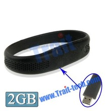21cm 2GB Silicon Bracelets Style USB 2.0 Flash Disk usb flash disk drive