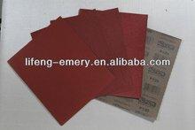 Red sander Aluminium Oxide Waterproof Abrasive Paper