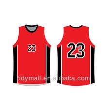 Red Custom Design Basketball Uniform/baby basketball jerseys