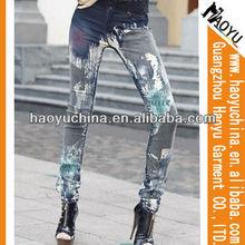 Trendy formal trousers for women bulk wholesale jeans (HYW43)