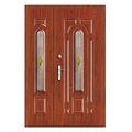 Intime de acero de seguridad de doble exterior de vidrio de la puerta de metal y
