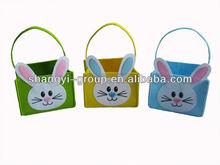 (EB-14) Lovely Easter Bag With Rabbit/Felt Bunny Bag/ Felt Easter Bag