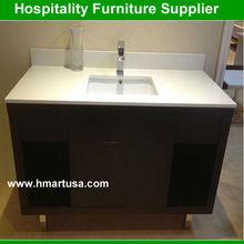 Solid wood used bathroom vanity cabinets espresso color
