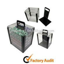 Aluminum Poker Chip Set In Crystal Acrylic Case Poker Set 1000 MLD-AC49