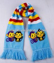 2013 azul y amarillo de bufandas de punto