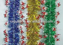 colorful popular christmas tinsel garland
