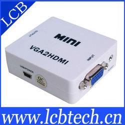 mini s-video vga rca to hdmi converter 1080P