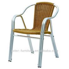 Alumínio de vime ao ar livre cadeira bistro