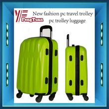 2014 china alibaba new design fashion pc travel trolley,pc travel luggage,cheap designer luggage sets