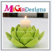 Hot Sale Handmade Direct Factory Art Design Ceramic Lotus Flower Tealight Candle Holder