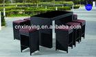 rattan garden furniture cube set