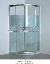 new design aluminum frame sliding open style shower enclosure AJL-1109