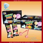 Glow pop fluorscent stick lollipop/lollipop candy