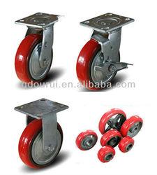 """4""""5""""6""""8"""" heavy duty PU Caster & wheel"""