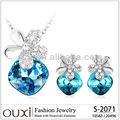 Ouxi 2015 venda quente grande pedra prata 925 jóias feitas com elementos swarovski s-2071