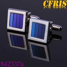 Top quality mens gradient color enamel cufflinks