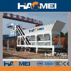 High Productivity Mobile Concrete Batching Plant YHZS25 for sale