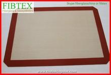 De fibra de vidrio no- palo de la seguridad de la superficie de silicona para hornear esteras/alfombrillas