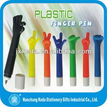 2014 Promotional Kinds Of Shaped plastic finger pen Hand gesture Pen