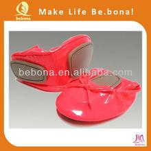 Wholesale OEM Elegant Comfortable Patent Women's Ballet Flats