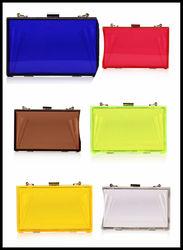 Fashion summer acrylic clear transparent evening clutch bag