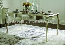 Antiguos de madera maciza de estilo francés de mesa de comedor/antiguos muebles de roble francés/tallado en madera sólida muebles de comedor gd-a8050