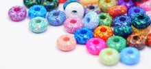 Synthetic Opal European Bead & Jewelry Loose Rondelle in 55 colors