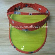Children Plastic Sunvisor cap, PVC Sun Visor, plastic visor