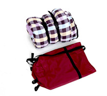 100% cotton shell outdoor cotton envelope sleeping bag with 190T ployester pongee lining